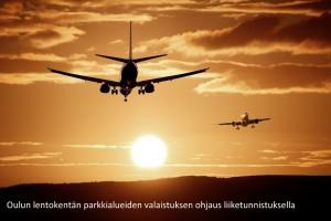 C2 SmartLight Oulun lentokentän parkkialueen valaistus